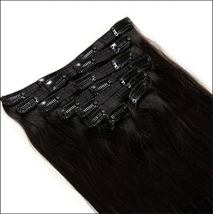 Straight Clip In Human Hair Extensions 6A unprocessed 16-28""