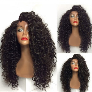She is 22 inches FULL LACE CURLY WIG