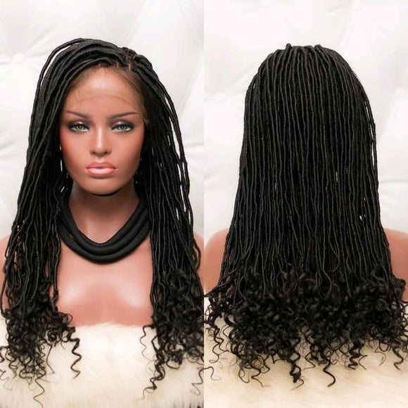 Goddess Faux Locs. Braidwig, Braidswig.Glueless. Braided Wig Choose your Length