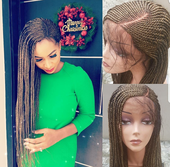 FEEDING BRAIDS LACE FRONT WIG