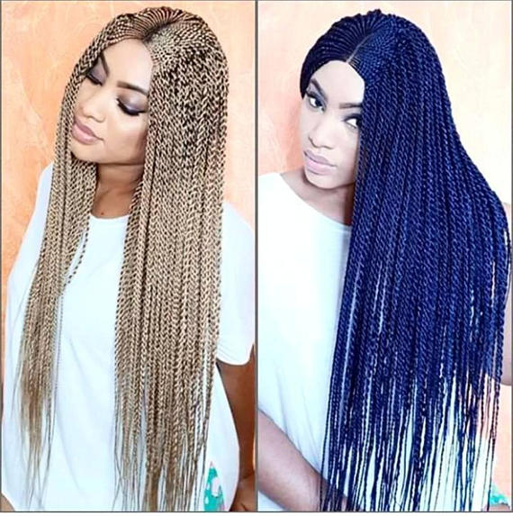 Ghana Braided Wig /Black Available for Immediate Delivery