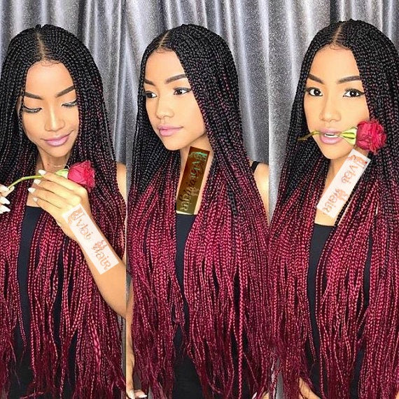 FULANI OMBRE BRAIDS LACE FRONT WIG W/BABY HAIR 24