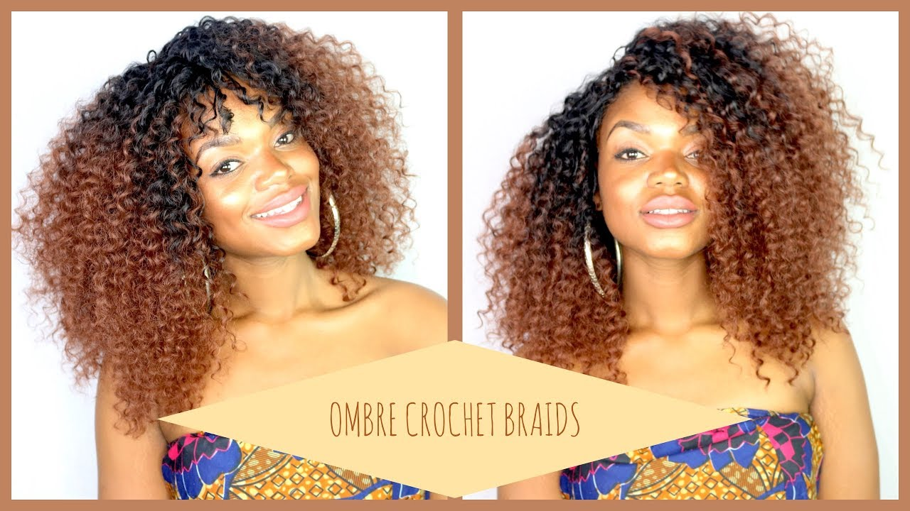 Crochet Hair 6 Packslot Kinky Curly Crochet Braids Ombre Braiding