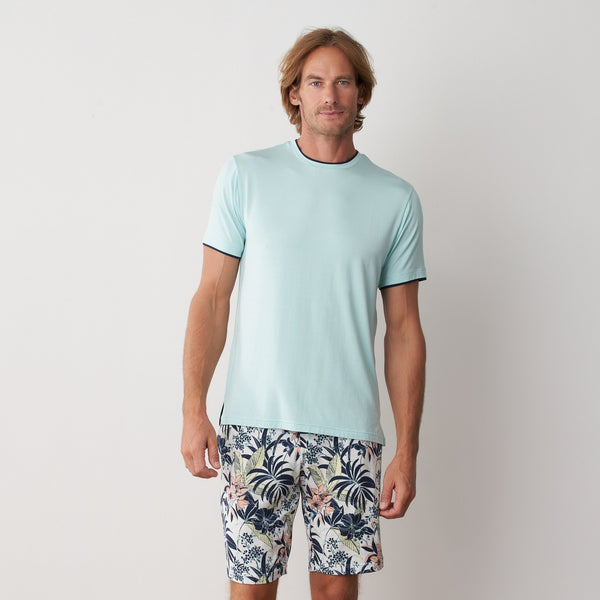 Tani Comfort Silktouch Round Neck Short Sleeve in 1031 mint colour