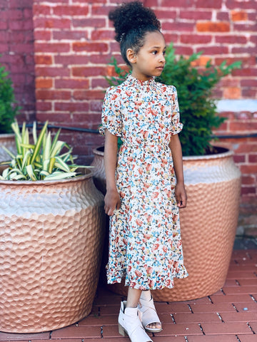 Girls Mix Print Dress