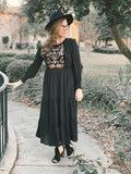 Womens Elite Embroidered Dress