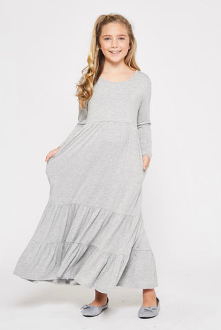 Girls Tiered Maxi Dress