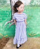 Girls Frill Trim Maxi Dress