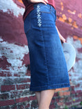 RESTOCKED! Womens Aztec Denim Skirt