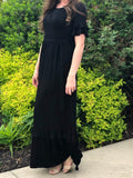 Womens Ruffled Maxi Dress (2 colors)