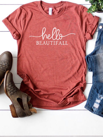 Womens Hello Beautifall Tee