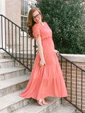 Womens Tiered Maxi Dress (Plus Sizes Available)