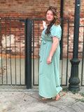 ALMOST GONE! Womens Faux Wrap Maxi Dress (Plus Sizes Only)