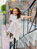 Girls Ivory Ruffled Dress