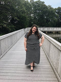 Womens Striped Dress (Plus Sizes Only)