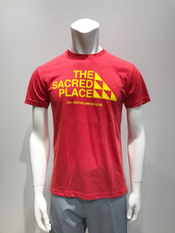 PERPETUATE HAWAIIAN CULTURE - The Sacred Place Red T-Shirt - Noeau Designers
