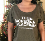 PERPETUATE HAWAIIAN CULTURE - The Sacred Place Ladies Green Shirt - Noeau Designers