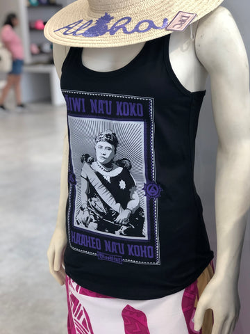 Bloodline Ladies Purple Queen 2.0 Racer Back Tank - Noeau Designers