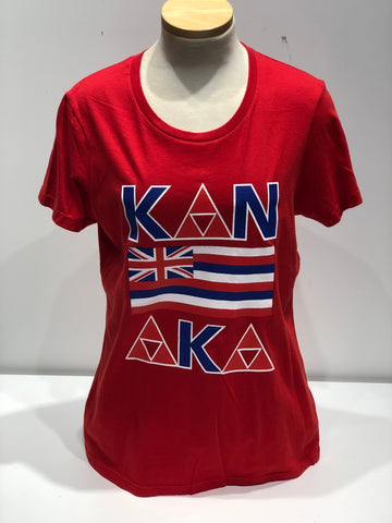 KING OF KINGS - Kanaka Women's Red T-Shirt