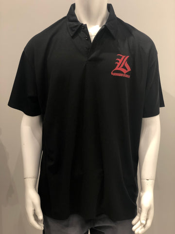 Bloodline Black Logo Polo Shirt - Noeau Designers