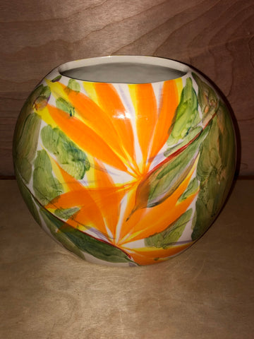 Michael Lee Bird Of Paradise Ceramic Vase - Noeau Designers