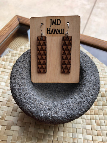 JMD Designs Rectangle Shark Tooth Earring - Noeau Designers