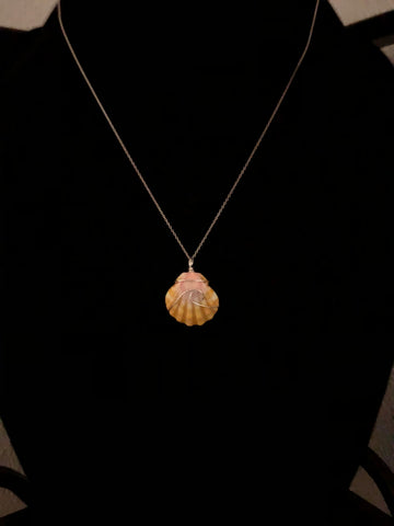 NANI KAI SEA GLASS - Ocean Wave Sunrise Shell Necklace - Noeau Designers