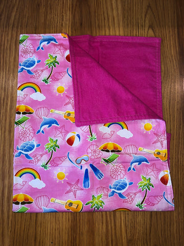 Pink Beach Theme Tiny Blanket - Noeau Designers