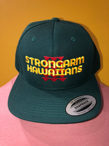 STRONGARM HAWAIIANS - Forest Green Snapback Hat - Noeau Designers