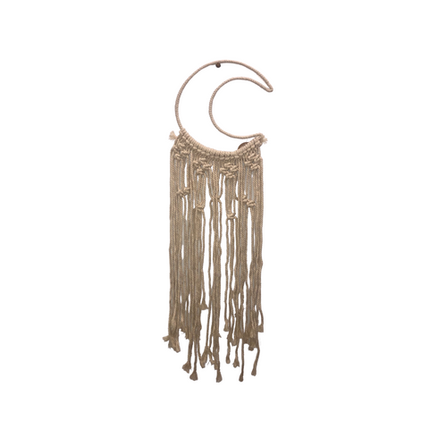 NATIVE BLENDS - Moon Macrame Hanger - Noeau Designers