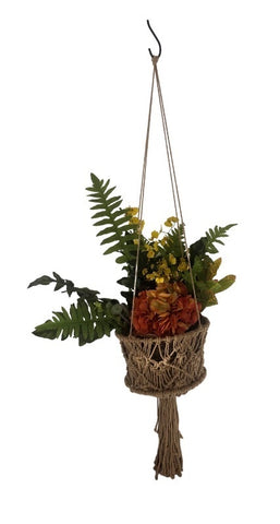 NATIVE BLENDS - Macrame Basket Hanger