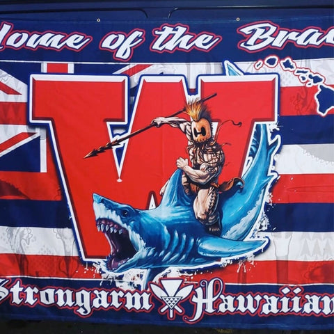 STRONGARM HAWAIIANS - Waianae Big Boy Blanket/Flag - Noeau Designers