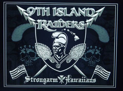 STRONGARM HAWAIIANS - 9th Island Raiders Big Boy Blanket/Flag - Noeau Designers
