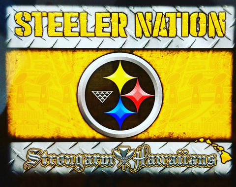 STRONGARM HAWAIIANS - Steeler Nation Big Boy Blanket/Flag - Noeau Designers