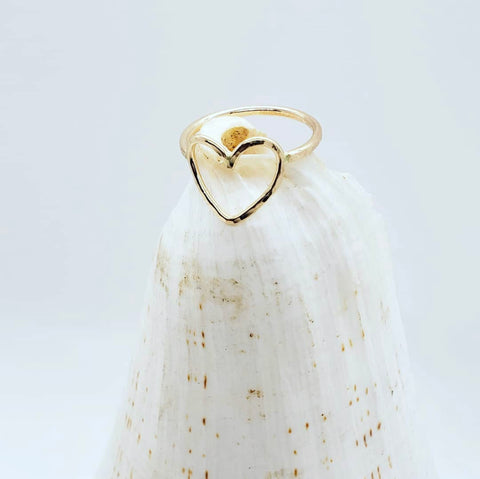 AUMOANA - Gold Filled Heart Rings - Noeau Designers
