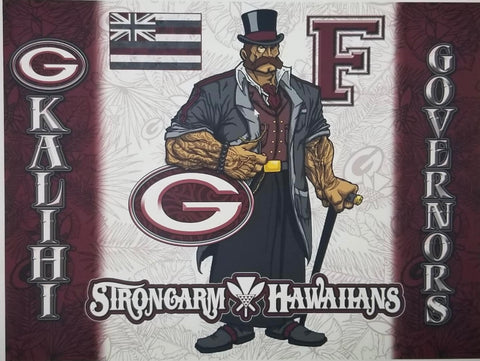 STRONGARM HAWAIIANS - Farrington Governors Big Boy Blanket/Flag - Noeau Designers