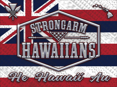 STRONGARM HAWAIIANS - He Hawaii Au Big Boy Blanket/Flag - Noeau Designers