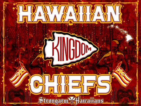STRONGARM HAWAIIANS - Hawaiian Chiefs Big Boy Blanket/Flag - Noeau Designers