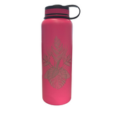 NOʻEAU DESIGNERS - Tropical Flowers Engraved Flasks - Noeau Designers