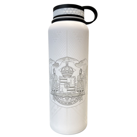 NOʻEAU DESIGNERS - Hawaiian Coat Of Arms Engraved Flasks