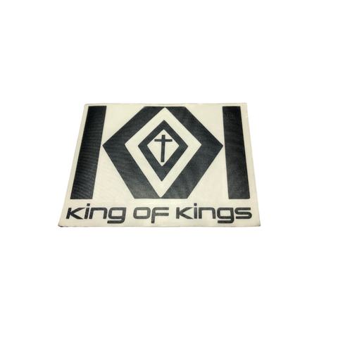 KING OF KINGS - Logo With Name Stickers