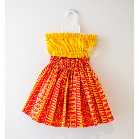 NOʻEAU DESIGNERS - Yellow & Red Keiki Hula Set - Noʻeau Designers