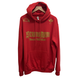 STRONGARM HAWAIIANS - House Of Collections Red Hoodie - Noeau Designers