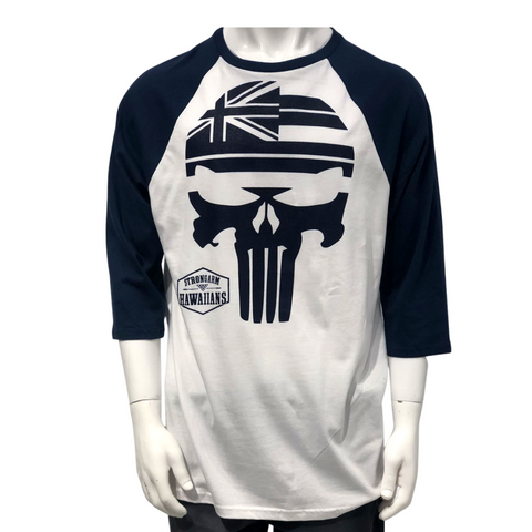 STRONGARM HAWAIIANS - Punisher Blue Raglan - Noeau Designers