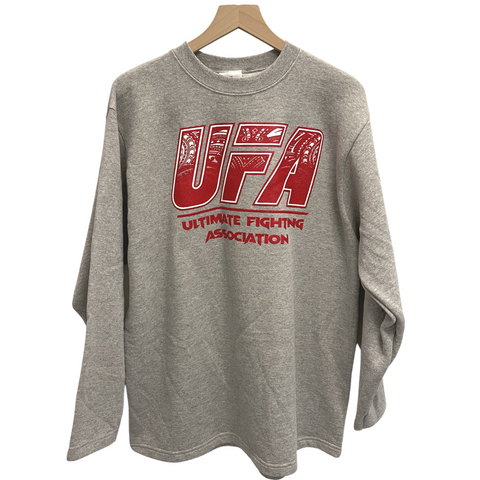 STRONGARM HAWAIIANS - Ultimate Fighting Association Gray Crewneck - Noeau Designers