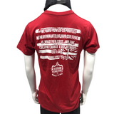 STRONGARM HAWAIIANS - Stop Stealing Hawaiian Land Red T-Shirt - Noeau Designers