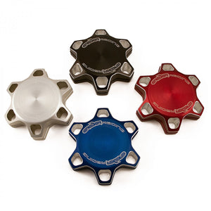 Kawasaki Billet Gas Cap - Black, Blue, Red, & Silver