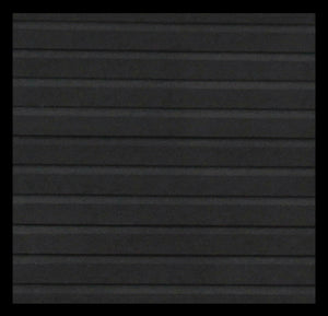 "Hydroturf Sheet - 40"" x 62"" - Black Grooved with 3M Adhesive"