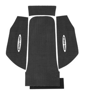 "Hydroturf Kawasaki 800 SXR Mats with 1"" Kick Tail. For use with Blowsion Rail Caps"