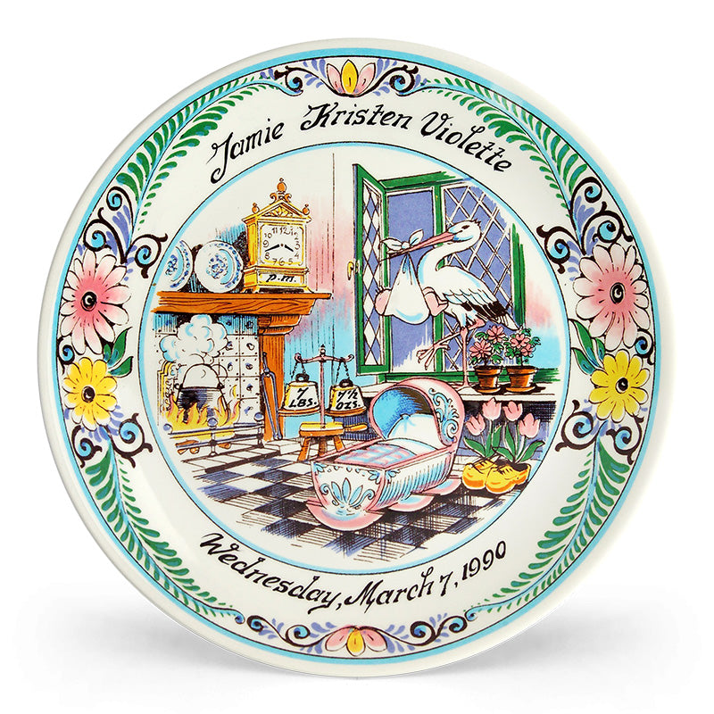 MultiColored Birth Plate
